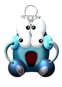 blue-monster-ornament
