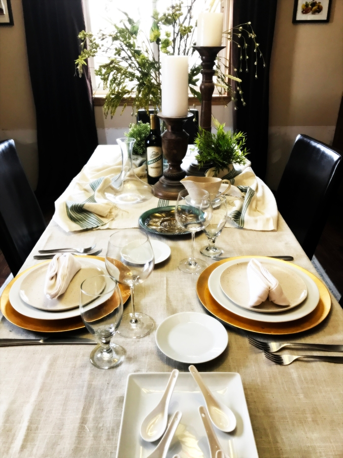 Passover Table Setting 2017