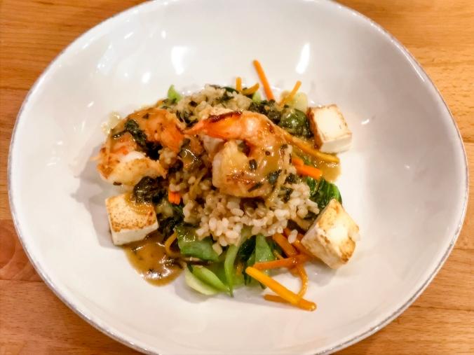 Shrimp and Tofu Thai Green Curry